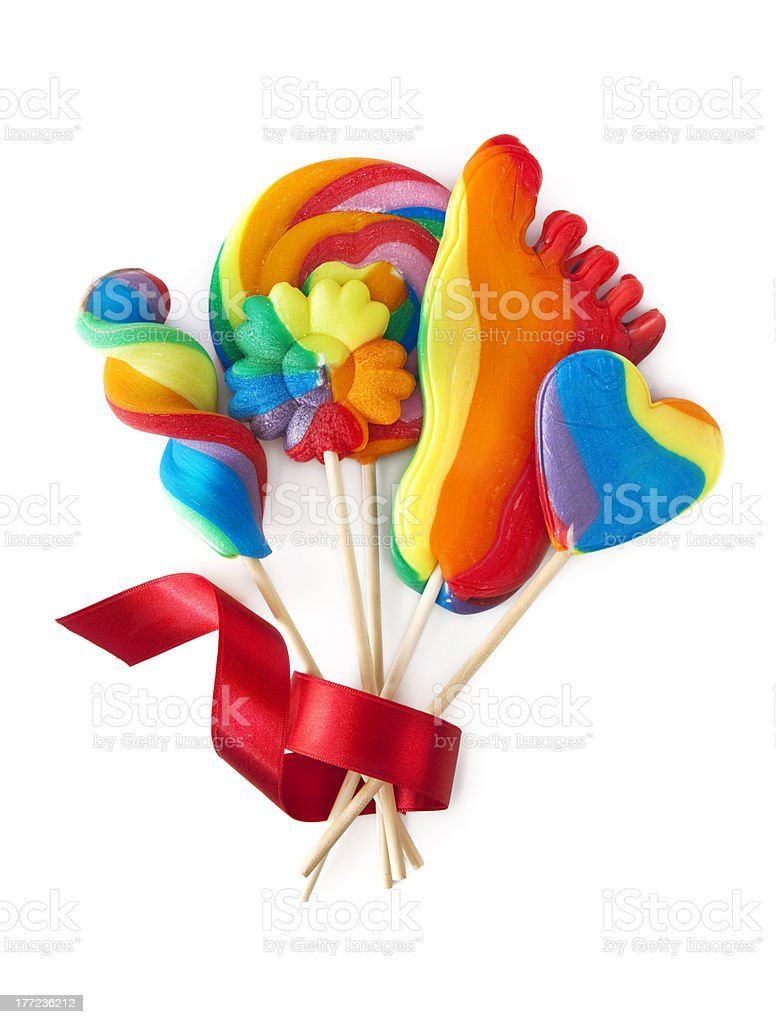 Colorful lollipops royalty-free stock photo