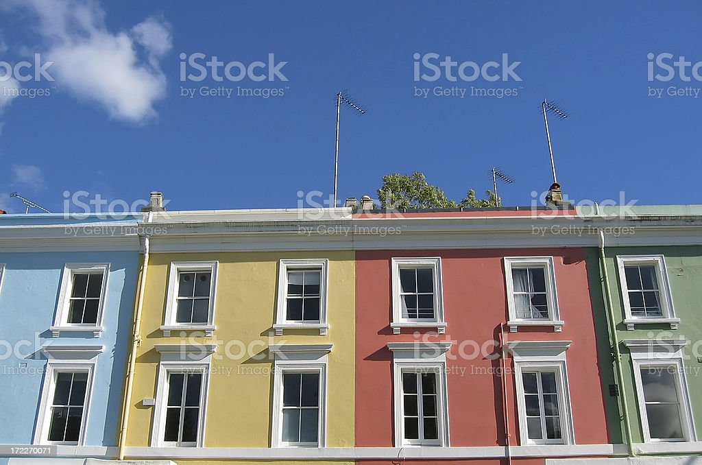 Colorful London houses royalty-free stock photo