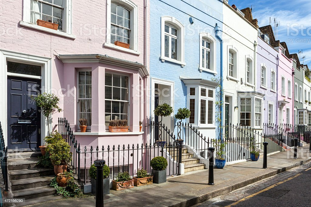 Colorful London Houses stock photo