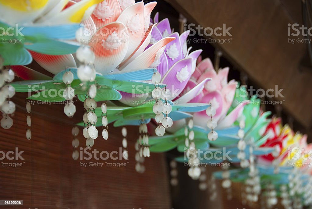 Colorful Lotus Decorations royalty-free stock photo