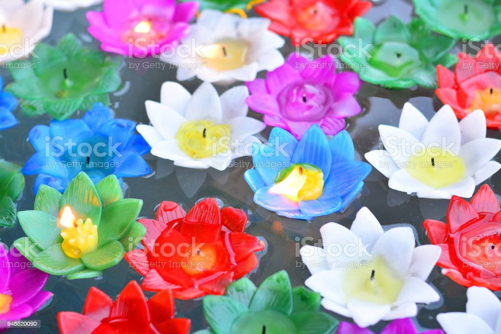 Colorful lotus flower made from candles stock photo more pictures colorful lotus flower made from candles royalty free stock photo mightylinksfo