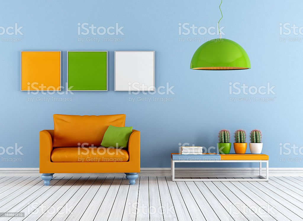 Colorful lounge royalty-free stock photo
