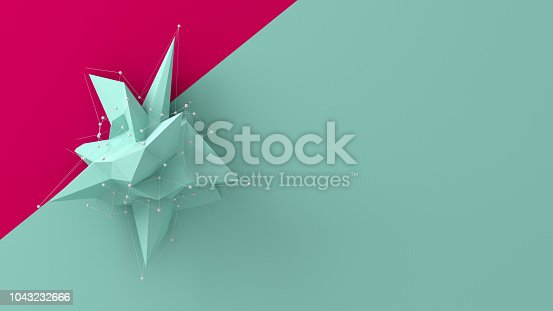 687269072istockphoto Colorful low poly object 1043232666