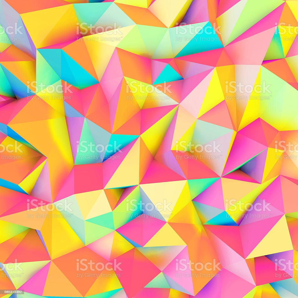 Colorful low poly texture stock photo