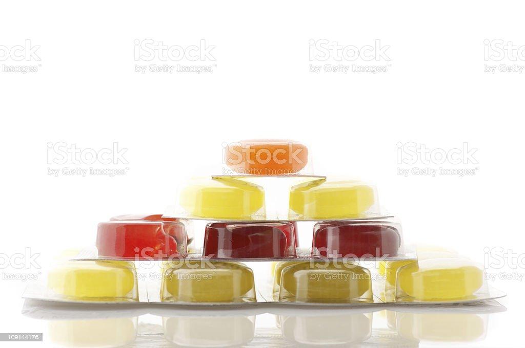 Colorful lozenges stock photo