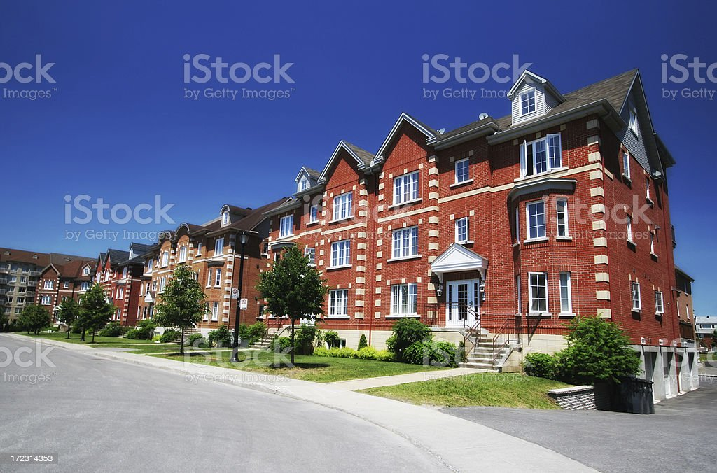 Colorful Luxury Townhouses royalty-free stock photo