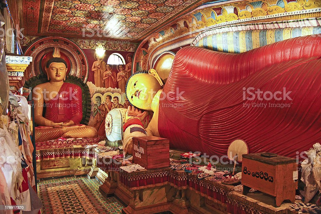 colorful lying Buddah in the  Jetavanarama Dagoba, Sri Lanka stock photo
