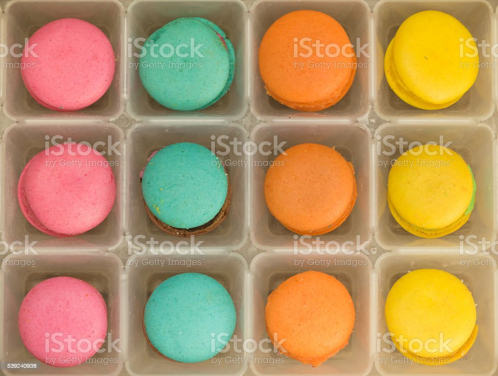 colorful macarons background royalty-free stock photo