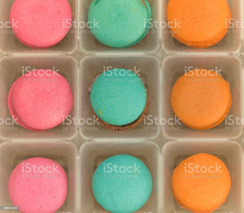 Fondo colorido macarons foto de stock libre de derechos