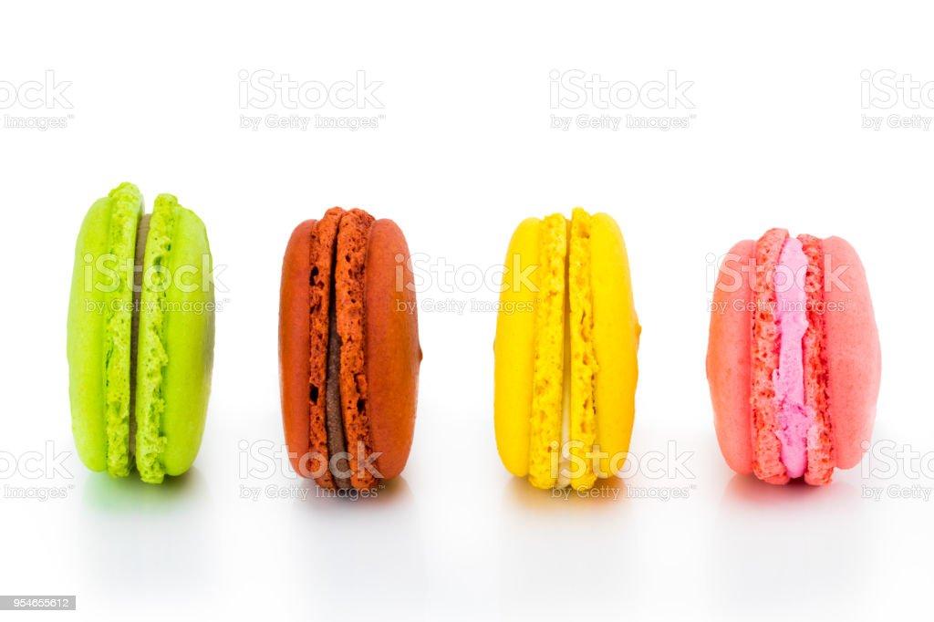 Bunte Macarons Kuchen Kleine Franzosische Kuchen Susse Und Bunte