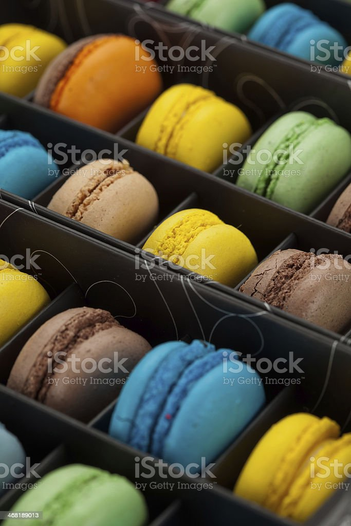 Colorful macaroons royalty-free stock photo