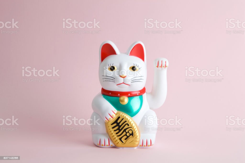 Colorful Maneki Neko stock photo
