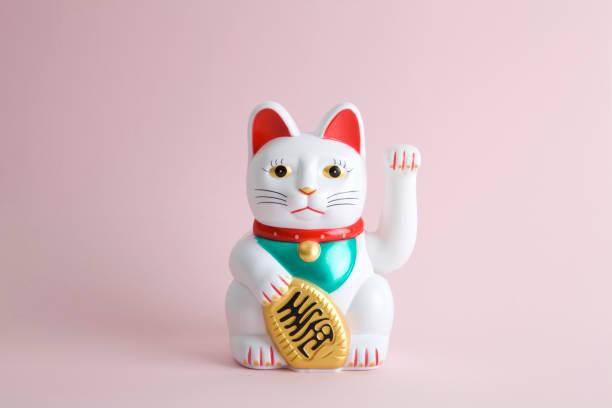 colorful maneki neko - котик яркий стоковые фото и изображения
