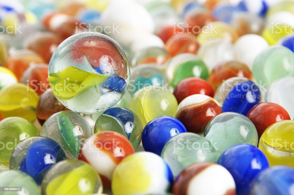 Colorful Marbles royalty-free stock photo