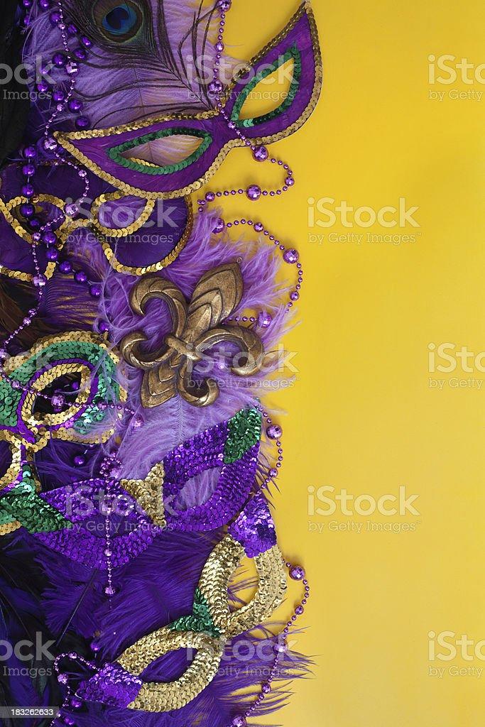 Colorful Mardi Gras Background royalty-free stock photo