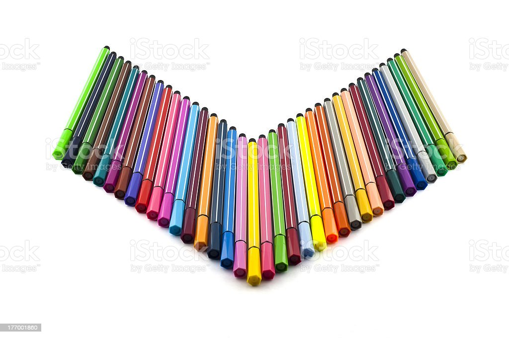 Colorful marker pens. royalty-free stock photo
