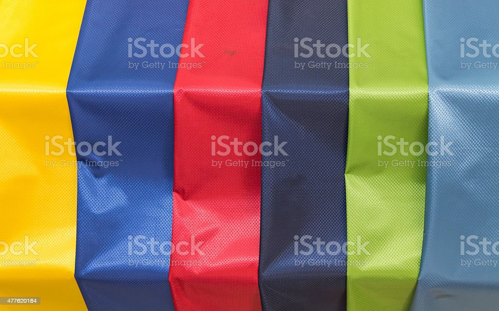 Colorful material samples fabric stock photo