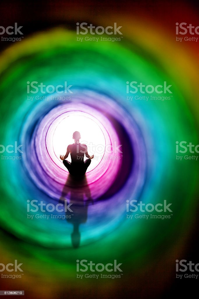 Colorful Meditation stock photo
