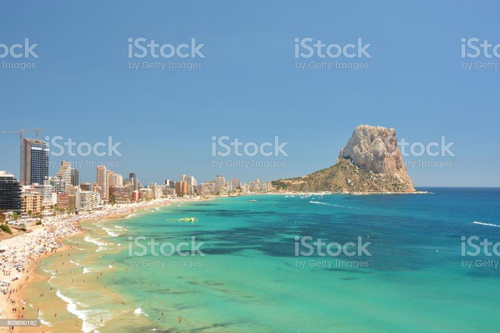Bunten Mediterranen Seenlandschaft Berg Penyal Zweifellos Calpe