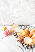 istock Colorful melting ice cream 935355034