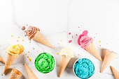 istock Colorful melting ice cream 935356962