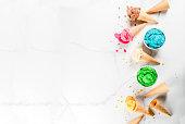 istock Colorful melting ice cream 935356970