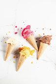 istock Colorful melting ice cream 935357094