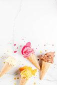 istock Colorful melting ice cream 935357122