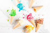 istock Colorful melting ice cream 935359326