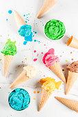 istock Colorful melting ice cream 935359336