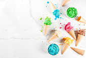 istock Colorful melting ice cream 935359340