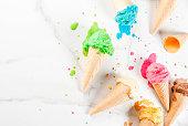 istock Colorful melting ice cream 935359372