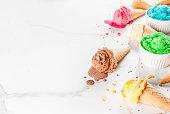 istock Colorful melting ice cream 935360760