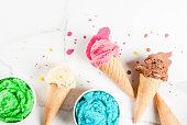 istock Colorful melting ice cream 935361042