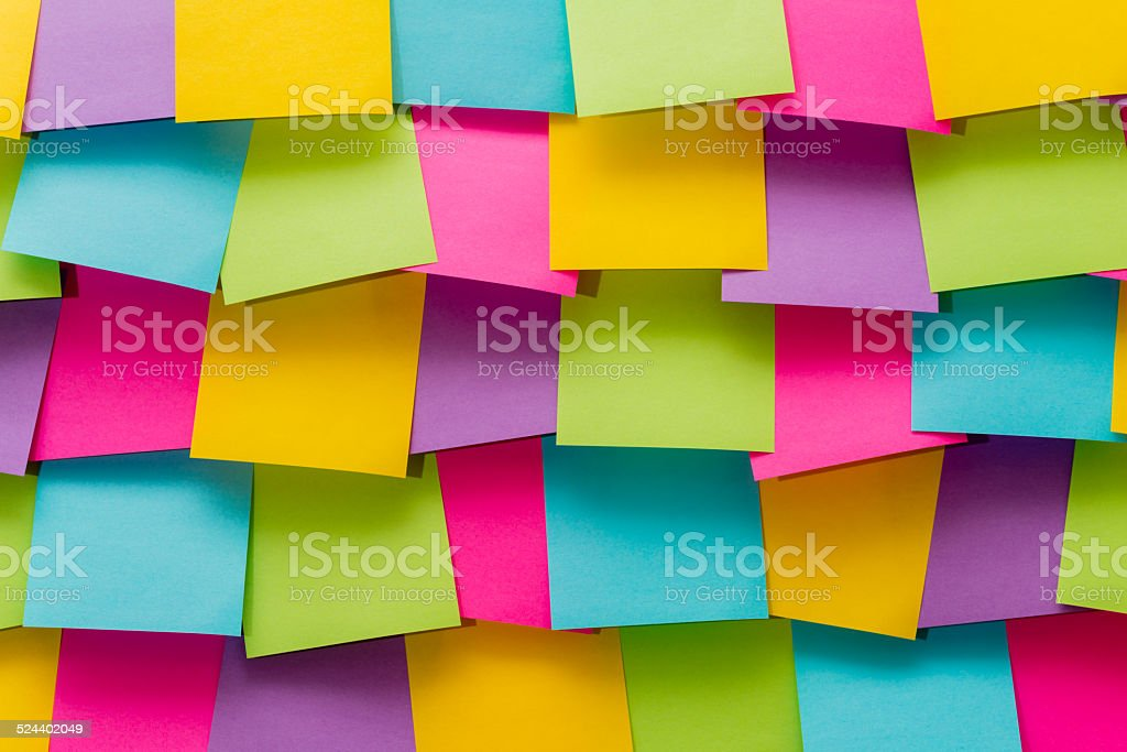 Colorful memo pads (XXXLarge) stock photo