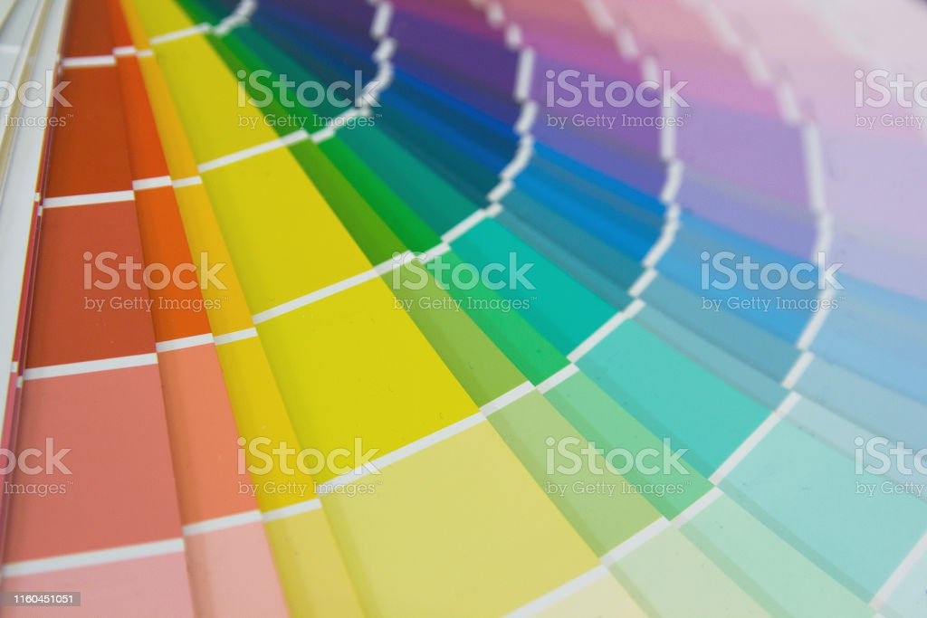 Colorful mesh color gradation close-up. Color wheel for choosing...