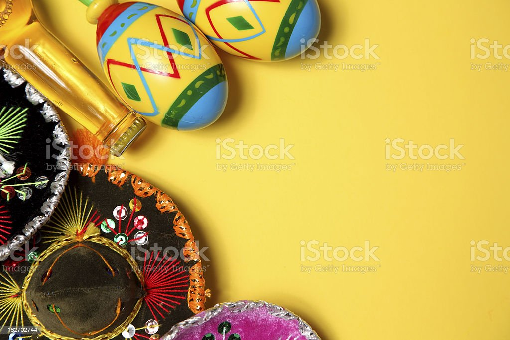 Colorful Mexican blanket border stock photo