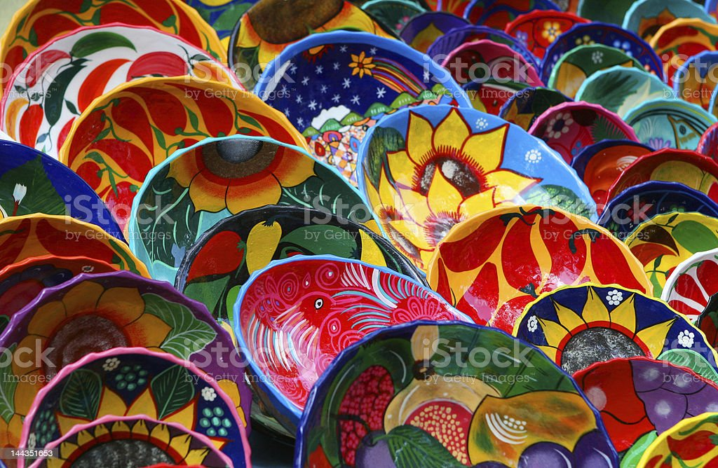 Colorful Mexican Bowls stock photo