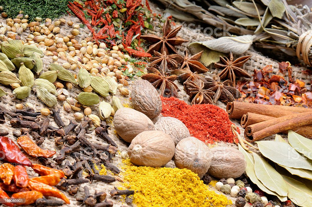 Colorful mix of spices royalty-free stock photo