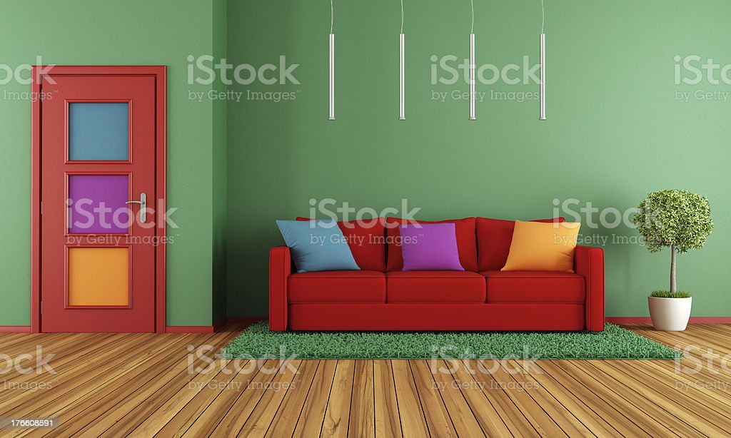 Colorful modern interior royalty-free stock photo