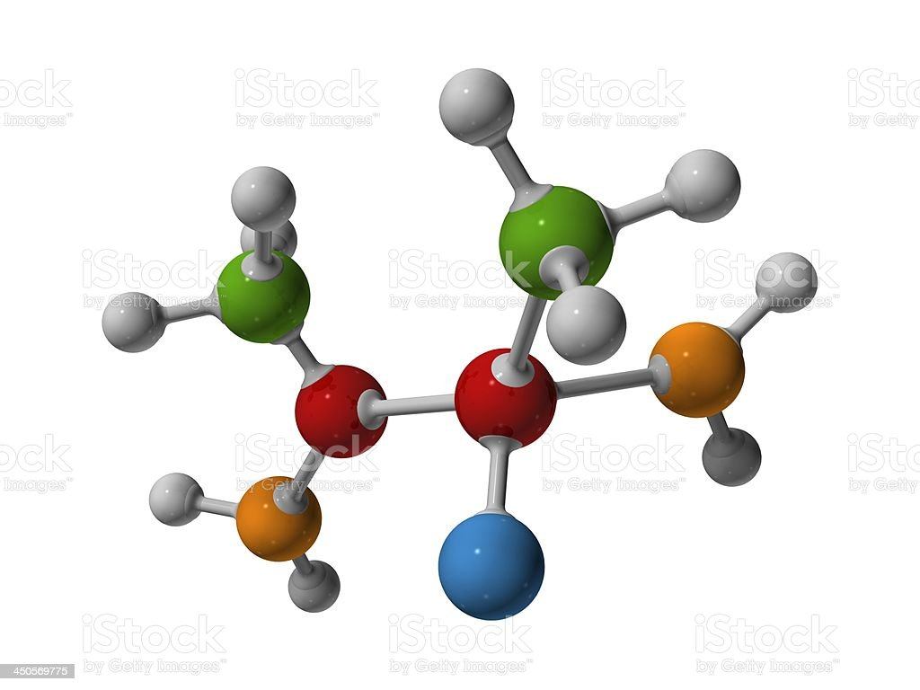 Colorful Molecular model royalty-free stock photo