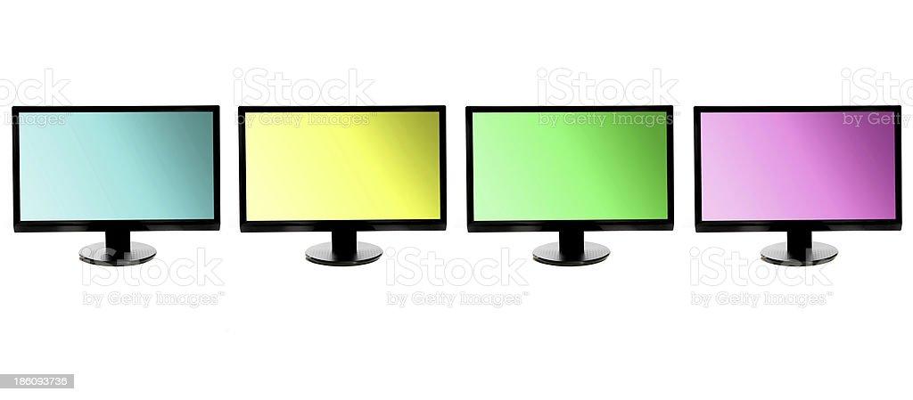 colorful monitors royalty-free stock photo