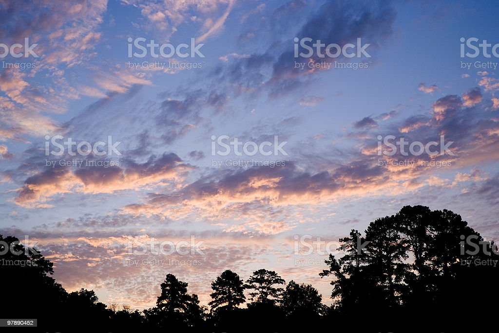 Colorful Morning Sunrise royalty-free stock photo