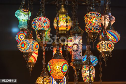 istock Colorful Moroccan style lanterns 592006442