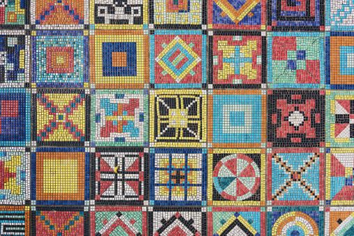 Art Design. The mosaic pattern on floor surface