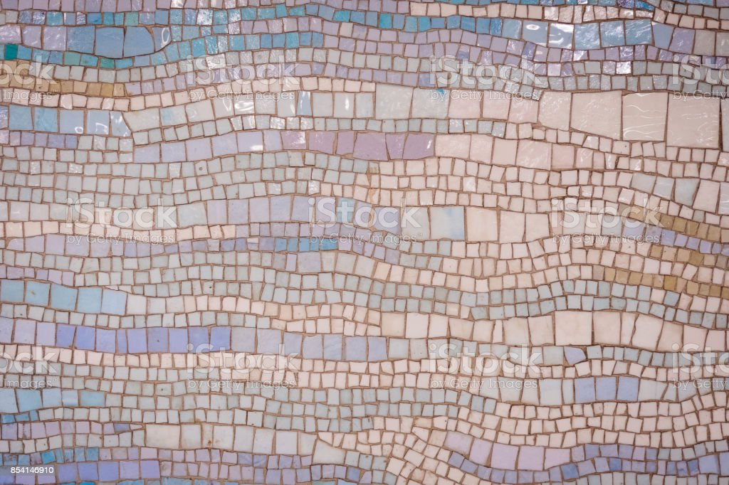 Colorful Mosaic Wall Background stock photo