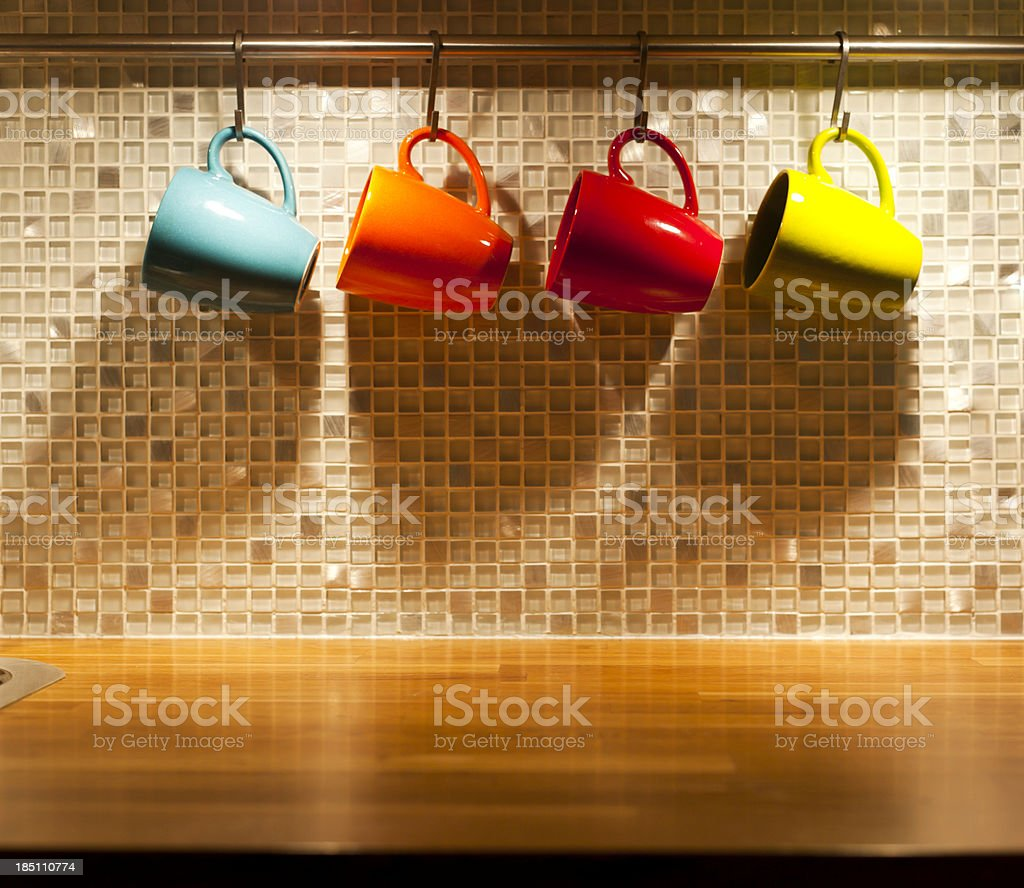 Colorful Mugs royalty-free stock photo