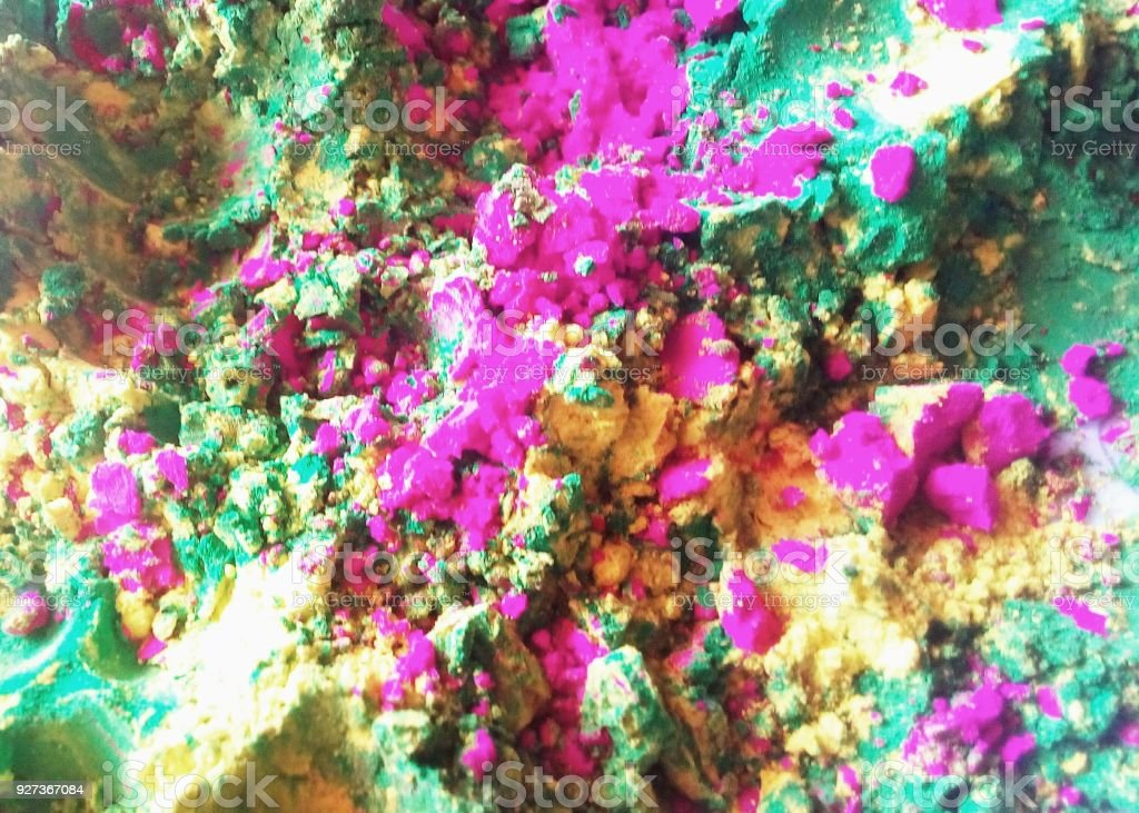 colorful multi color texture color powders holi Hinduism Stock Photo