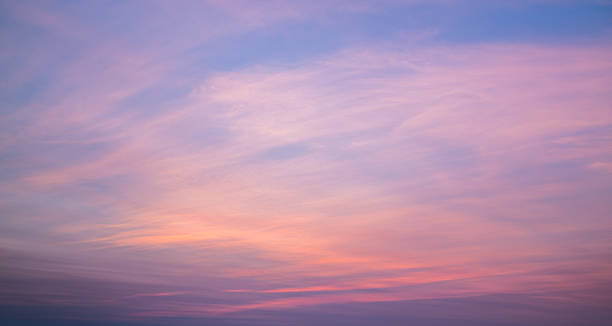 colorful multi colored sunset - twilight stock photos and pictures