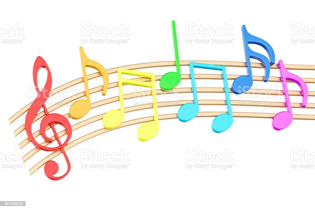 3d Colorful Music Notes Wallpaper: Royalty Free Musical Note Pictures, Images And Stock